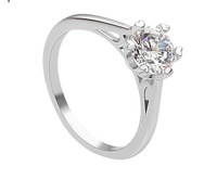 Sz/6/7.5/8/9.5 Jewellery AAA Cubic Zircon 1carat  10KT gold filld Lady's wedding ring for gift