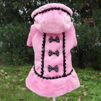 Wholesale Retail Fashion 2014 Winter Dog Pet Puppy Dress Coat Princess Pet Apparel XXS XS S M L