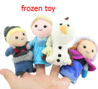 latest kids finger plush toys.frozen elsa and annna and olaf plush toy for kids.best christmas gift and birthday.finger toys