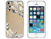 Camellia Design Rhinestone Decorated Protective Plastic Case for iPhone 5S/5       LIP-5314D