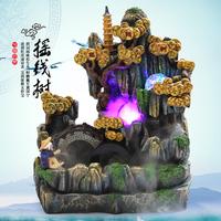 2014 Chinese feng shui water fountain decoration humidifier water fish bonsai gadget feng shui ornaments free shipping