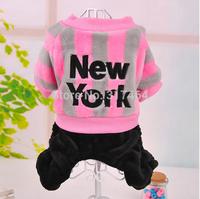Wholesale Retail  Fashion 2014 Autumn Winter Dog Pet Puppy Jumpsuit New York Pet Apparel XXS XS S M L