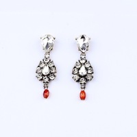 [Mini Order $10] High Quality Women's Accessories Glass Drop Pendant Earring