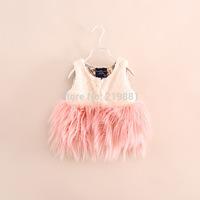 2014 Girls new fur vest coat , girls winter clothes , girls coat , 6pcs/lot    YS45