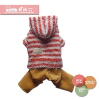 Free Shipping Pet Products 2014 New Arrival Hot Dog clothes Fall and Winter clothes for dogs Pet  Thickened four legged sweater