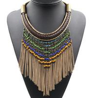 M1201 NEW 2014 Z design tassel chocker collar Unique costume necklace & pendant chunky bib fashion necklace for women jewelry