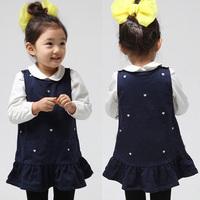 New fashion baby girls sets spring autumn girls clothing kids girls long-sleeve T-shirt  with dress kids skirt twinset