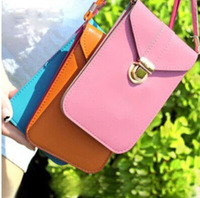 2014 mini mobile phone Women Messennger Bag  Bags PU leather Clutches Small size luxury style beautiful design for women