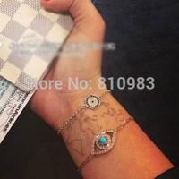 Fashion accessories evil eye bracelet jewelry Gold Chain Bracelets Set