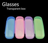 Wholesale Hot Sale Portable Transparent Eyewear Box Candy Color Myopia Glasses Case Spectacles Boxes