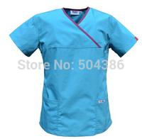Matin medical scrub set for women  acid blue