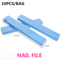 Free Shipping 10pcs/lot Nail Tools 100/180 Washable Sanding Buffers  Rectangle Sandpaper Nail Buffers for Manicure Pedicure