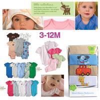Carters Baby Jumper Jumpsuit  Boys Girls Bodysuit  Newborn Clothing Set Clothes Short Sleeve Kids Roupas De Bebe Shower Gift