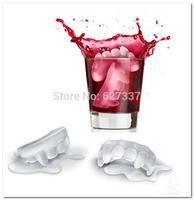 Free Shipping (10pcs/lot) Summer vampire bloodsucker teeth tooth style Freeze Ice Cube Tray Mold Maker ice maker resin romantic
