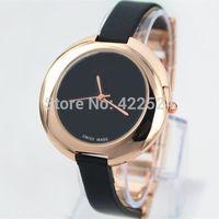 Fashion Women Leather Watch Top Brand Rose Gold luxury lady Watch Japan movement Free Shipping Box