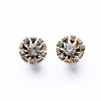 2014 New Arrival Fashion Jewerly Hot Sale Snow Rhinestone Stud Earrings for Women European style Ornaments 811011 Free Shipping