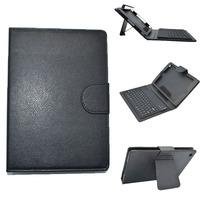Black Filo PU Leather Case Cover Stand w/ Silicone Bluetooth V3.0 Keyboard for iPad Mini/iPad mini 2