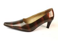 Woman Genuine Leather Pumps High Heels Low Heel Shoes