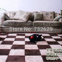 12pcs/lot Eco-friendly mats foam floor mat solid color velvet patchwork floor mats 30*30cm 3colors