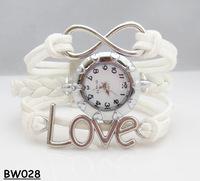 "NEW 2014 Infinity Watch Alloy Bracelet Fashion Jewelry ""Love"" Trendy Bracelets Charm Watch Hand Wear Students Watch"