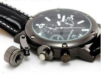 2014 New Wholesale Men Wrist Watches V6 fashion leather strap quartz watch sports watches men