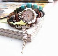 NEW 2014 Infinity Watch Alloy Bracelet Students Watch Trendy Bead Bracelets Charm Watch Girlsfriends Leather Hand Wear