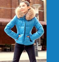 2014 New Arrived women coat,Down J acket girls Winter padded faux fur collar for women ,Winter Jacket for Ladies & Girls