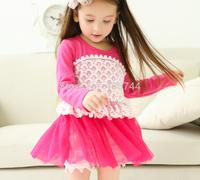 2014  girls LACE dress ,GD-RJM01