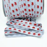 Red Grey Elephant Alabama FOE Elastic