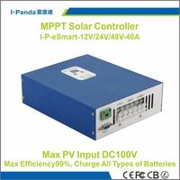Ecnomical I-P-eSMART-12V/24V/48V-40A MPPT solar charge controller 48V 40A PV regulator  40A battery charger controller