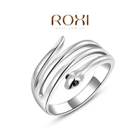 women fashion jewelry platinum plated silver color ring snake style rings drop shipping wholesale 2010405175a-6