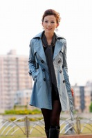 FREESHIPPING hot sale Lady's Womens' Fashion Trench Turn-Down Collar Coat dropshipping