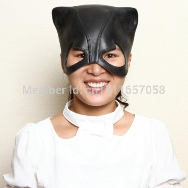 Sexy cat girl headgear mask mask latex export U.S. role masquerade dress headgear Spring(China (Mainland))