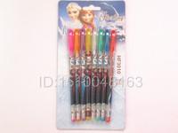 "Free shipping School 5 Box=40 pcs 8colors Frozen""metallic glitter + fruit scent ""  blink pen,,ballpoint pens,gel Pen"