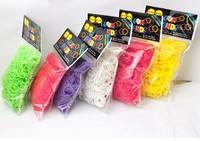 Wholesale Rubber Band Loom Bands Children  DIY Bracelet Opp Bag Package 300pc/600pc Set