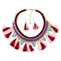 N2101 NEW Z design tassel hot sale chocker collar chunky necklace for women & fashion pendant chocker necklace jewelry