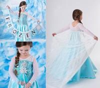 2014 Frozen Girl Elsa & Anna Princess children dress girls Princess dresses With Cloak 32042
