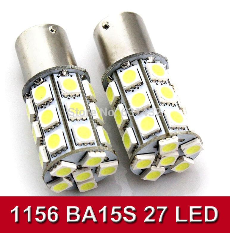 Car White Red Blue yellow 27 SMD 5050 LED 1156 BA15S P21W Trun Signal Light Instrument Bulb Indicator Lamp DC 12V CN50001(China (Mainland))