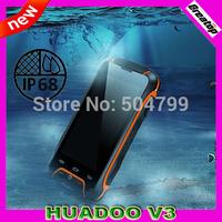 "Original HUADOO V3 Mobile Phone MTK6582 Quad Core RAM1GB+8GB 4.0"" 8.0MP Camera GSM/WCDMA 3G Waterproof Android 4.4 cell phone"