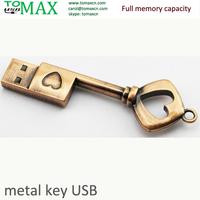 USB flash drive Metal heart key USB disk Full memory Genuine 2G 4G 8G 16G 32G USB Pendrive