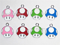 Free Shipping Kids Super  Mario Key Metal Pendant Charms for Party Lots Fashion Jewelry
