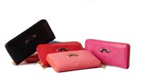 2014 New Arrival women's mustache wallets purse fashion clutch wallet change purses lady purse female wallet bags woman