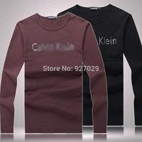 New Arrival Mens long Sleeve Tees T Shirts Fashion 2014 Designer Printed Casual T-shirt  Men's Long Sleeves T shirts