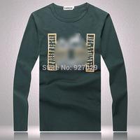 Wholesale New Arrival Mens long Sleeve Tees T Shirts Fashion 2014 Designer Printed Casual T-shirt  Men's Long Sleeves T shirts