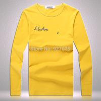 New Arrival Mens long Sleeve Tees T Shirts Fashion 2014 Designer Classic Printed Casual T-shirt  Men's Long Sleeves T shirts