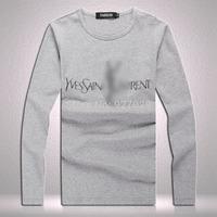 New Arrival Mens Flag Long Tees T Shirts Fashion 2014 Designer Classic Printed Casual T-shirt  Men's Long Sleeves T shirts