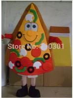 Hot Christmas Pizza Man Cartoon Mascot Costume Halloween Fursuit Fancy Dress Mascot Costume