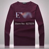 New Arrival Mens Flag Long Tees T Shirts Fashion 2014 Designer Printed Casual T-shirt  Men's Long Sleeves T shirts Multicolor