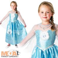 2014 new Frozen Girl Elsa & Anna Princess children dress girls Princess dress including cloak 31434