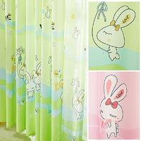 Rabbit baby fresh baby cartoon child real curtain yarn window screening little rabbit curtain yarn for windows